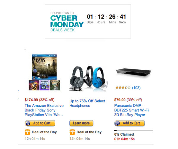 Amazon Cyber Monday 2013 Deals Where to Look for the Best Tech Cyber Monday Gifts 2013