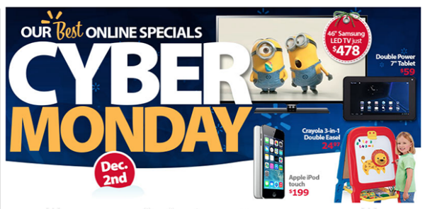 Walmart Cyber Monday 2013 Deals Where to Look for the Best Tech Cyber Monday Gifts 2013
