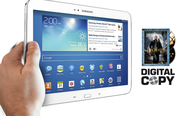 digital copy to galaxy tab 3 Stream Blu ray DVD digital copies to Galaxy Tab 3 for viewing