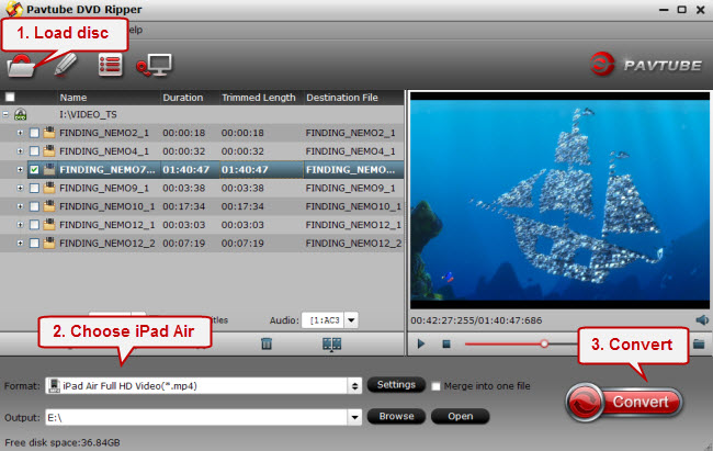 dvd to ipad air Put MKV, AVI, Tivo, VOB, WMV, MPG, FLV to iPad Air for watching freely