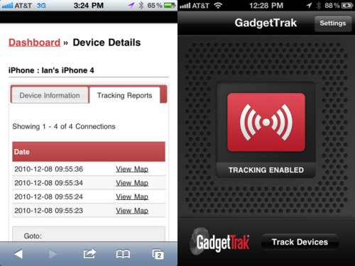 gadgetrak 2 Apps for you to Track or Find Your Stolen iPhone