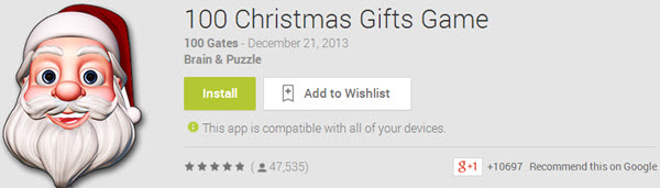 100 Christmas Gifts Game Top 10 Best Android Christmas Apps