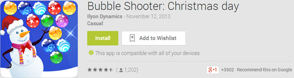 Bubble Shooter Christmas day Top 10 Best Android Christmas Apps