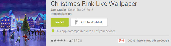 Christmas Link Live Wallpaper Top 10 Best Android Christmas Apps