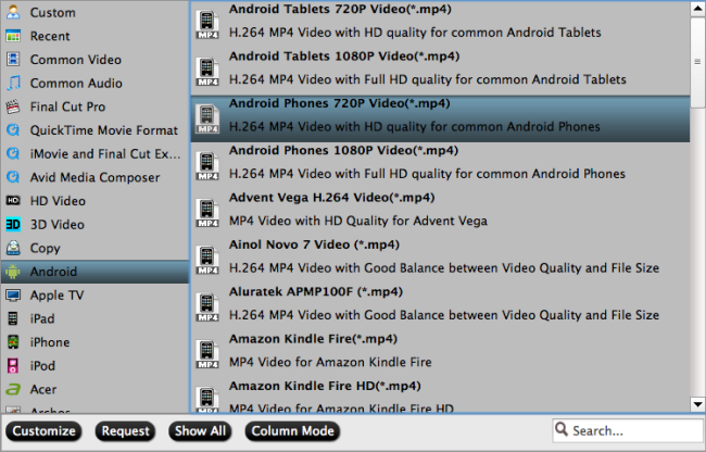 android video format Easily Convert Blu ray movies to playable format on Android device on Mac