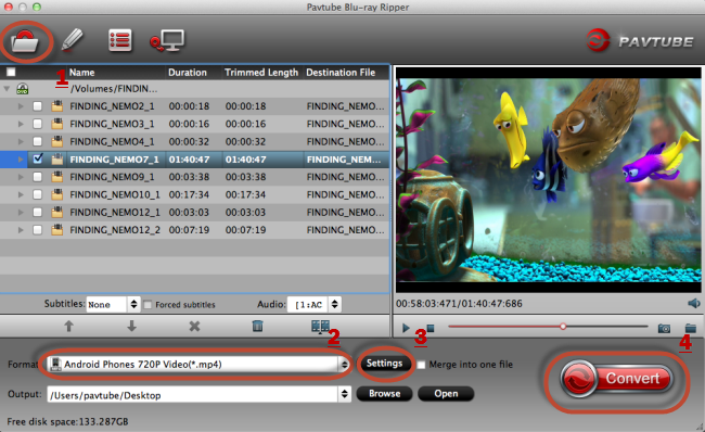 blu ray to android on mac Easily Convert Blu ray movies to playable format on Android device on Mac