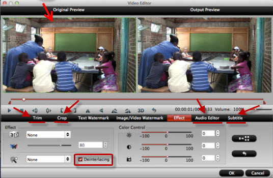 edit videos before conversion Easily Convert Blu ray movies to playable format on Android device on Mac