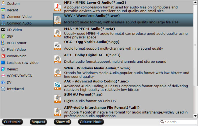 Convert FLAC to WAV audio format