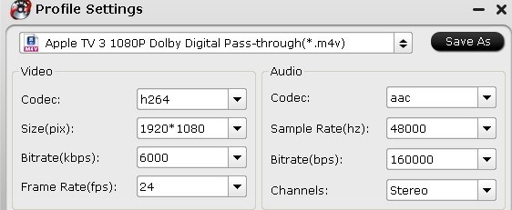 apple tv3 settings How to Backup Blu ray/DVD/VCD to play on Apple TV 3