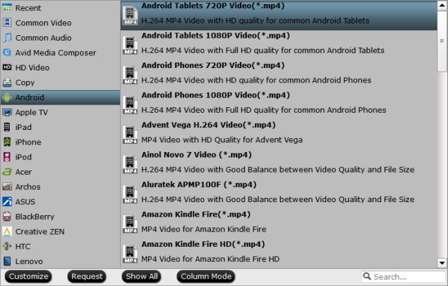 android format Watch ISO/IFO collections on Android Devices