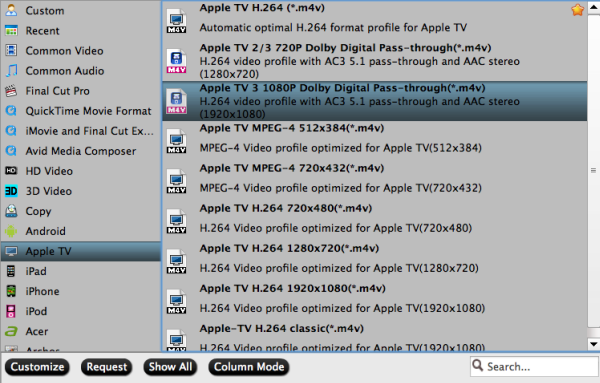 apple tv format How to transfer recorded 2014 FIFA World Cup TiVo files to Apple TV 3 on Mac