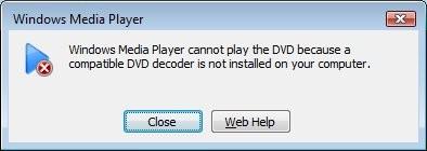 decodificador dvd windows media player