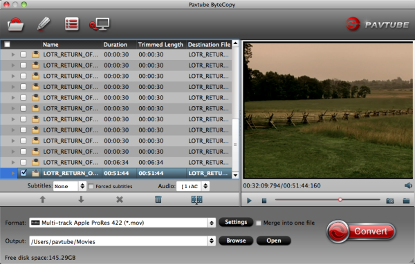 blu ray to fcp with multi track Editing Blu ray/DVD movies in FCP X with first Prores Converter supports multi track