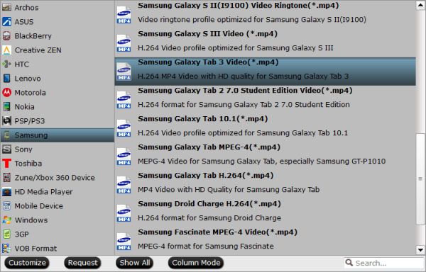 galaxy tab 3 format Copy/Transfer DVD ISO/IFO to Galaxy Tab 3 10.1