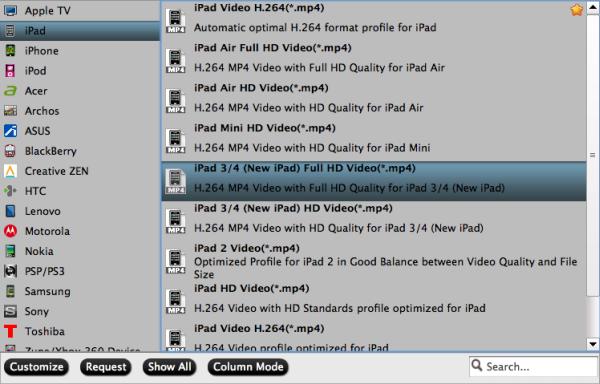 ipad video format