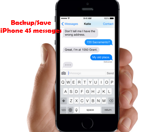 backup iphone 4s messages Quickly Save/Transfer a large amount of Messages (Text, photos) from iPhone 4S to Mac
