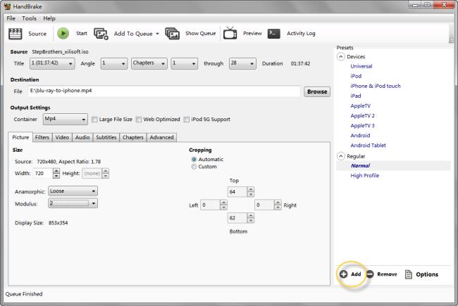 Create Handbrake iPad Preset Settings to Convert Video and