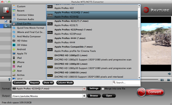 Ingest AVCHD footage from Sony RX100 II into FCP for working Fcp-prores-codec