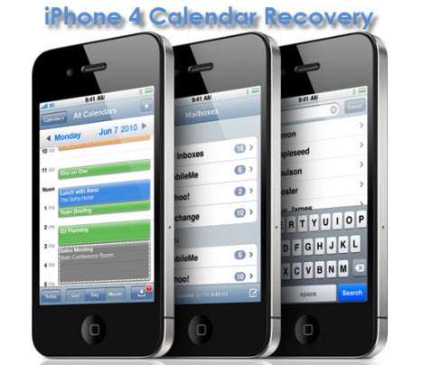 iPhone 4 calenday recovery Easily Retrieve calendar events from iPhone 4