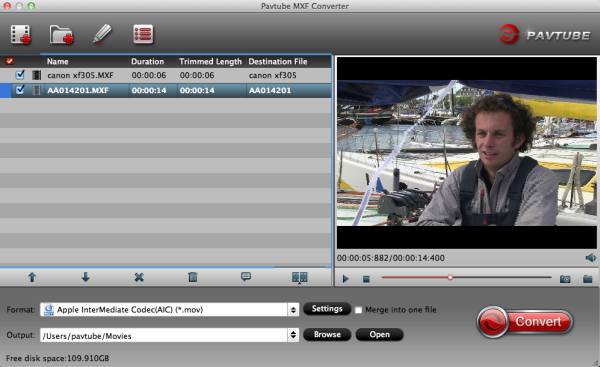 mxf to imovie converter