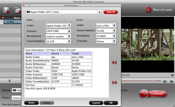 Best Workflow for Sony FDR-AX100 in Final Cut Pro X Prores-settings