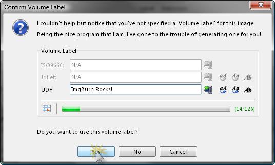 volume label
