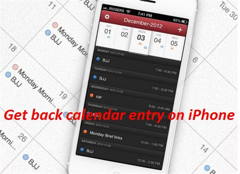 iphone calendar Wondershare Dr.Fone for iOS  Find back the deleted/lost calendar entry on your iPhone