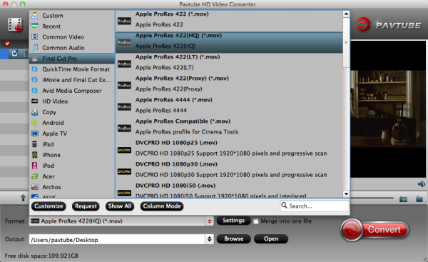 XAVC to ProRes-Encode Sony PMW-F55 XAVC to FCP X on Mac  Prores-hq-codec