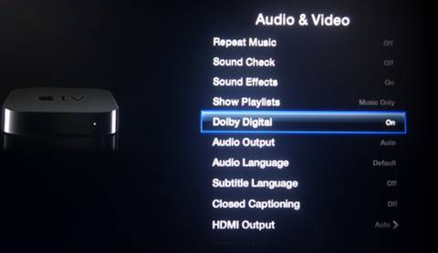 Turn on Dolby Digital