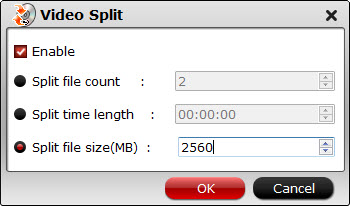 Split a double-layer Blu-ray into two parts for burning Video-split