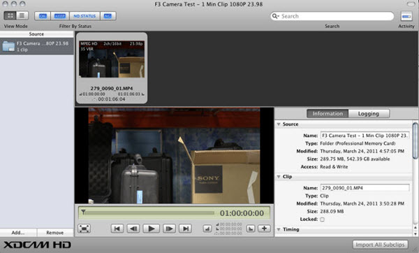 Super Easy Steps for Editing Sony F3 XDCAM video in Final Cut Pro 7