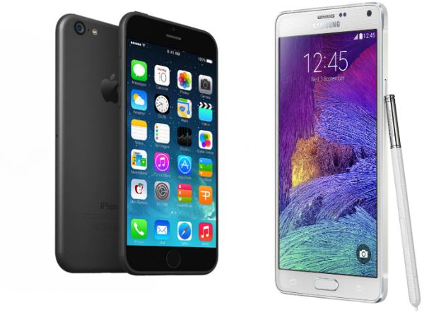 Galaxy Note 4 and iPhone 6 Plus