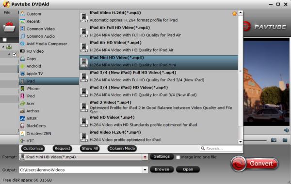 ipad mini 3 2 format The Best iPad Mini 3/Mini 2 Ripper   Convert/Rip DVD to iPad Mini 3 and iPad Mini 2 playable Video