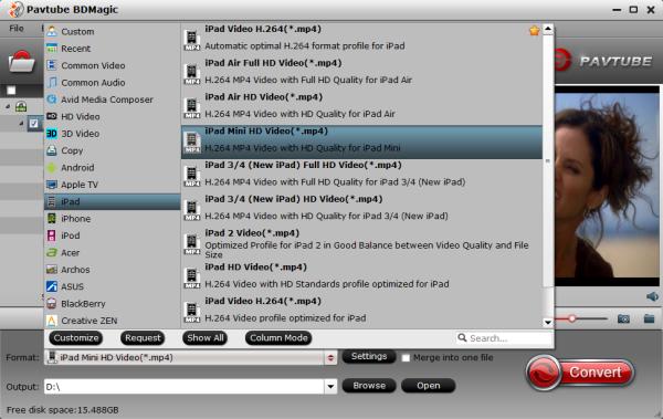 ipad mini 3 format Make 3D Mr. Peabody and Sherman Blu ray Playable on iPad Mini 3