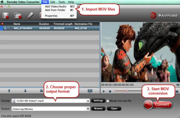 Best MOV Player- Three methods to play QuickTime mov files