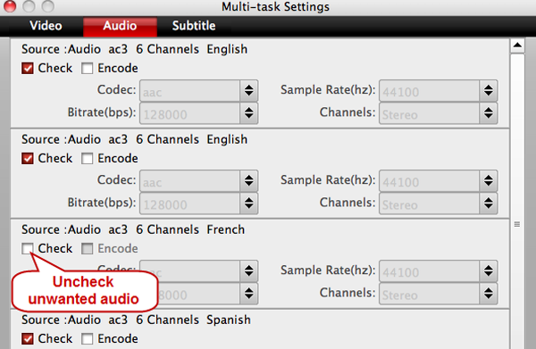 ISO into MKV - Backup BR ISO to lossless MKV with subtitle on Mac Multi-track-settings