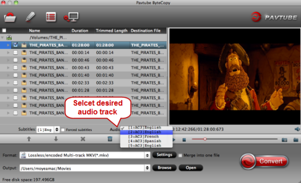 ISO into MKV - Backup BR ISO to lossless MKV with subtitle on Mac Select-audio-track