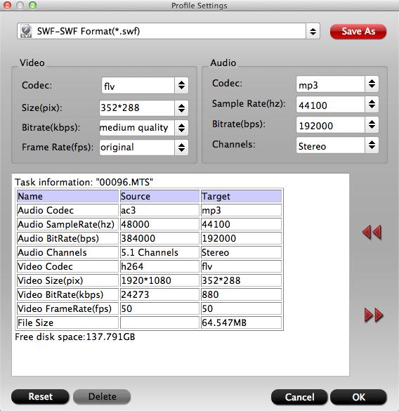 how to choose flv in adobe media encoder