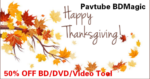 Pavtube 2016 Thanksgiving Day Promotion